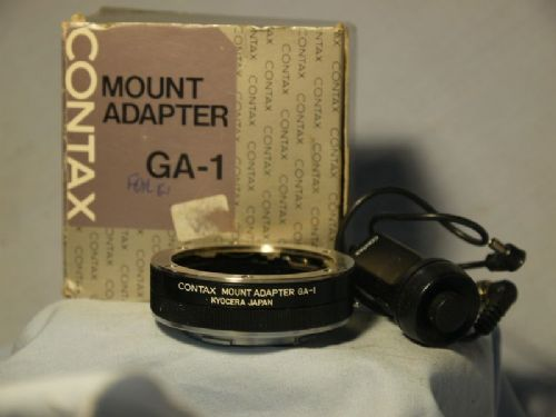 '                    GA-1 -MINT- + Release '    Contax G GA-1 Mount Adapter for G1, G2  Boxed £74.99